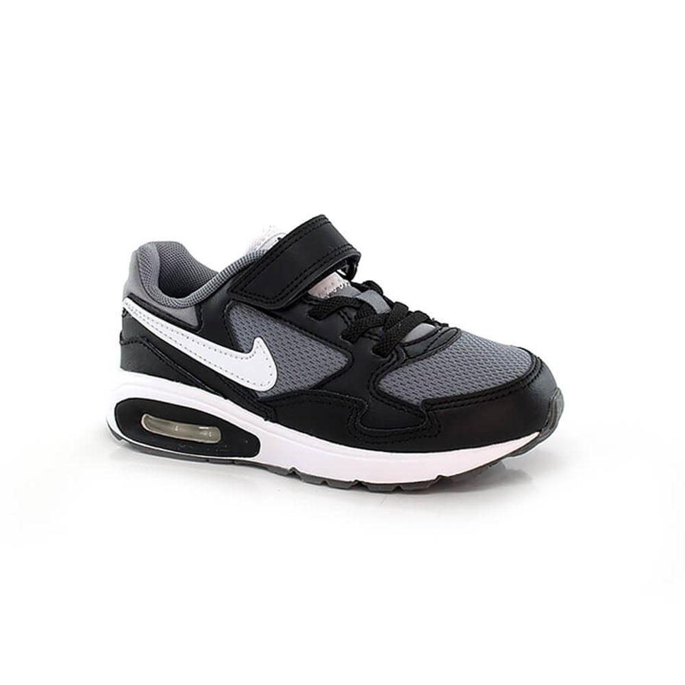 018030379.1.Tenis.Nike.Air.Max.ST.PSV.Infantil.preto.branco.com.velcro
