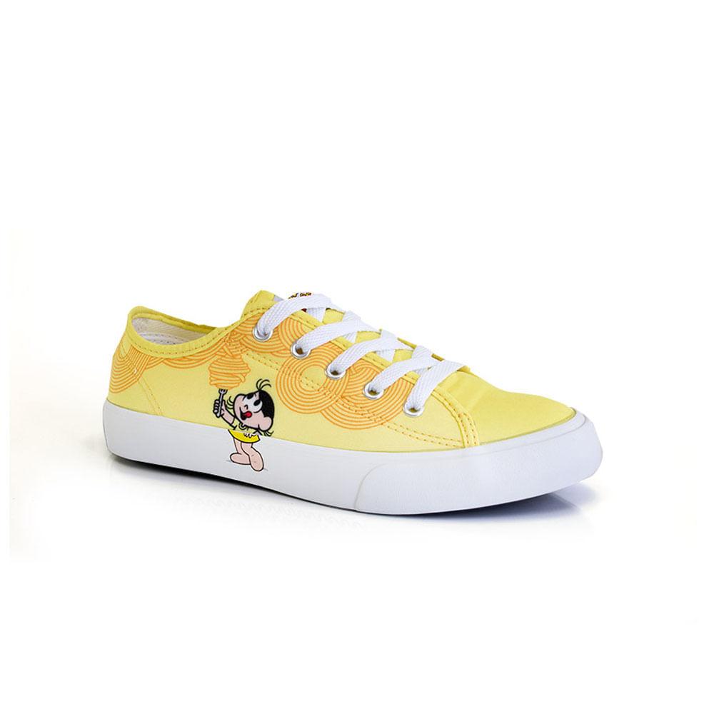 018030386-Tenis-Infantil-Turma-da-Monica-magali-amarelo-cano-baixo-Magali