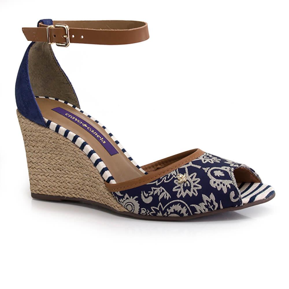 0d49a84f8 Sandália Anabela Cravo e Canela - Vanda Calçados - Vanda Calçados
