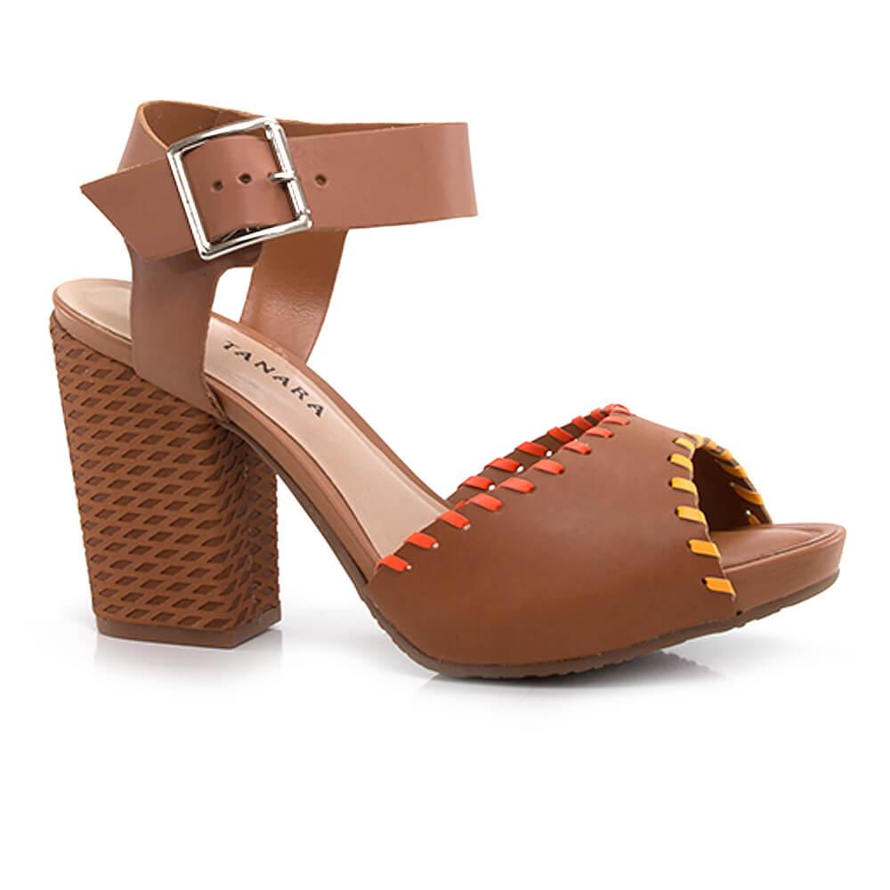 49d7728ee Sandália Tanara com Salto Bloco - Vanda Calçados - Vanda Calçados
