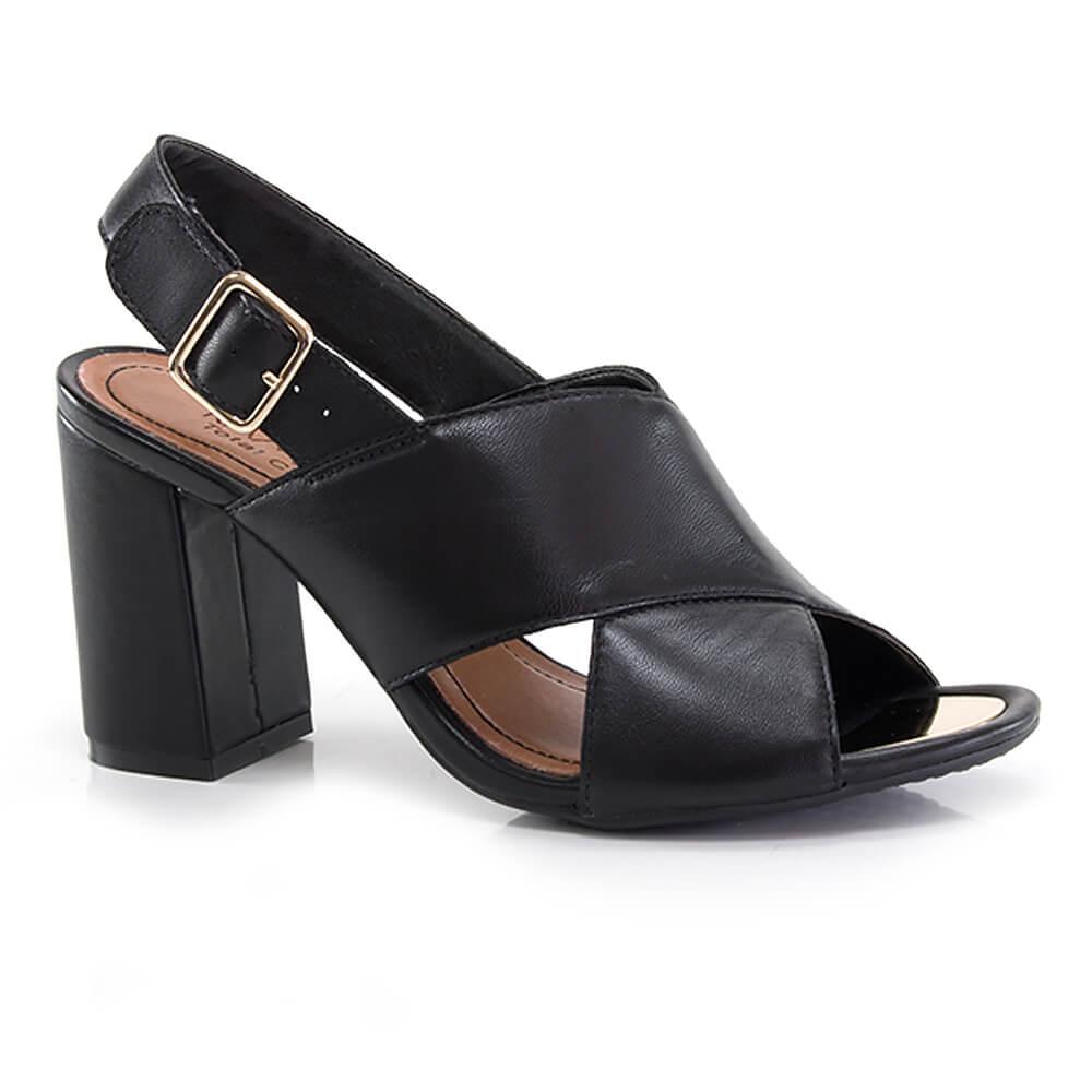 a719b1560 Sandália Ramarim em Couro - Vanda Calçados - Vanda Calçados