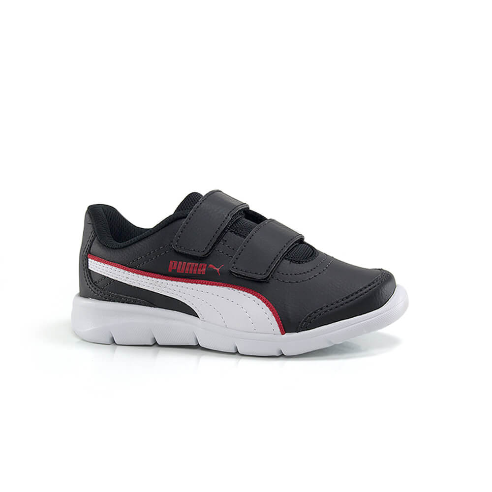 018030437-Tenis-Puma-Stepfleex-Run-SL-Infantil-Masculino-Preto-Vermelho-1