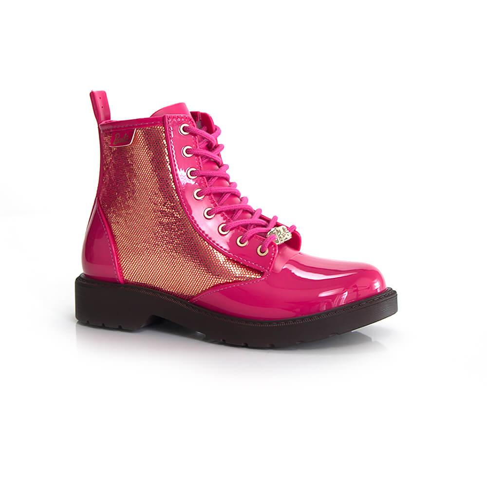 019090125-Bota-Coturno-Grendene-Barbie-Marrom-Rosa-Menina