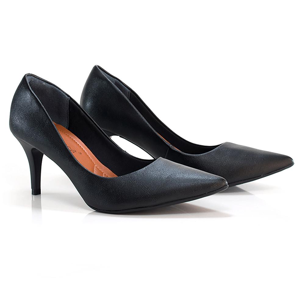 Scarpin np pewter salto 11cm Cód.: 676 - Sapatos Femininos