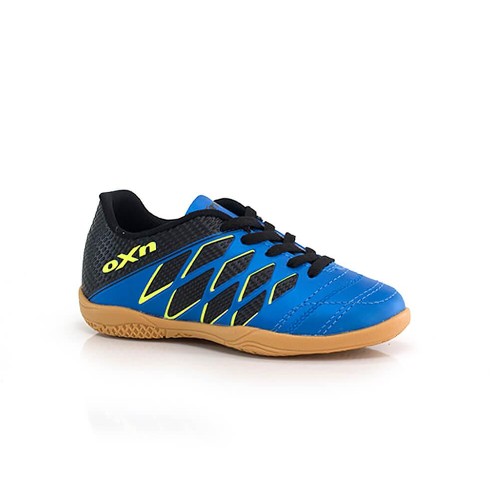018070018-Chuteira-OXN-Mission-Infantil-Futsal-Azul-Lima