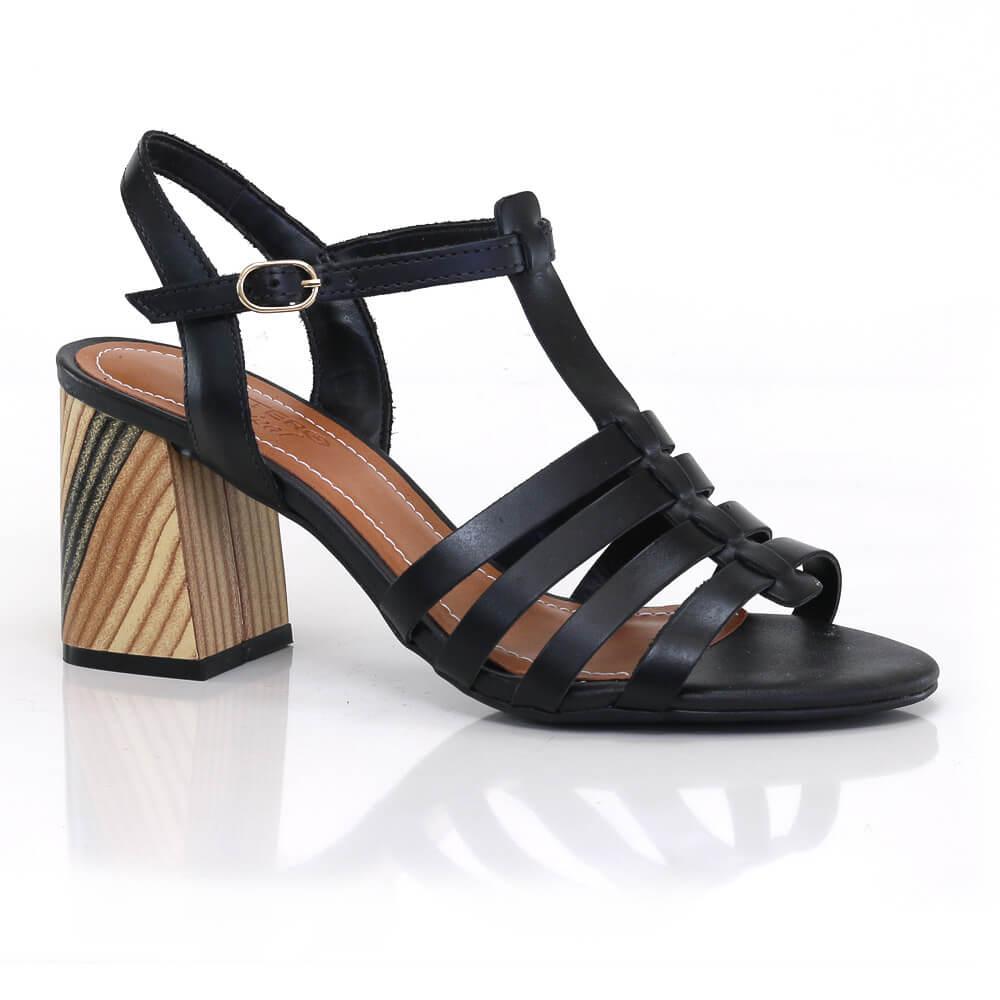 9bd9a2922 Sandália Bottero em Couro com tiras - Vanda Calçados