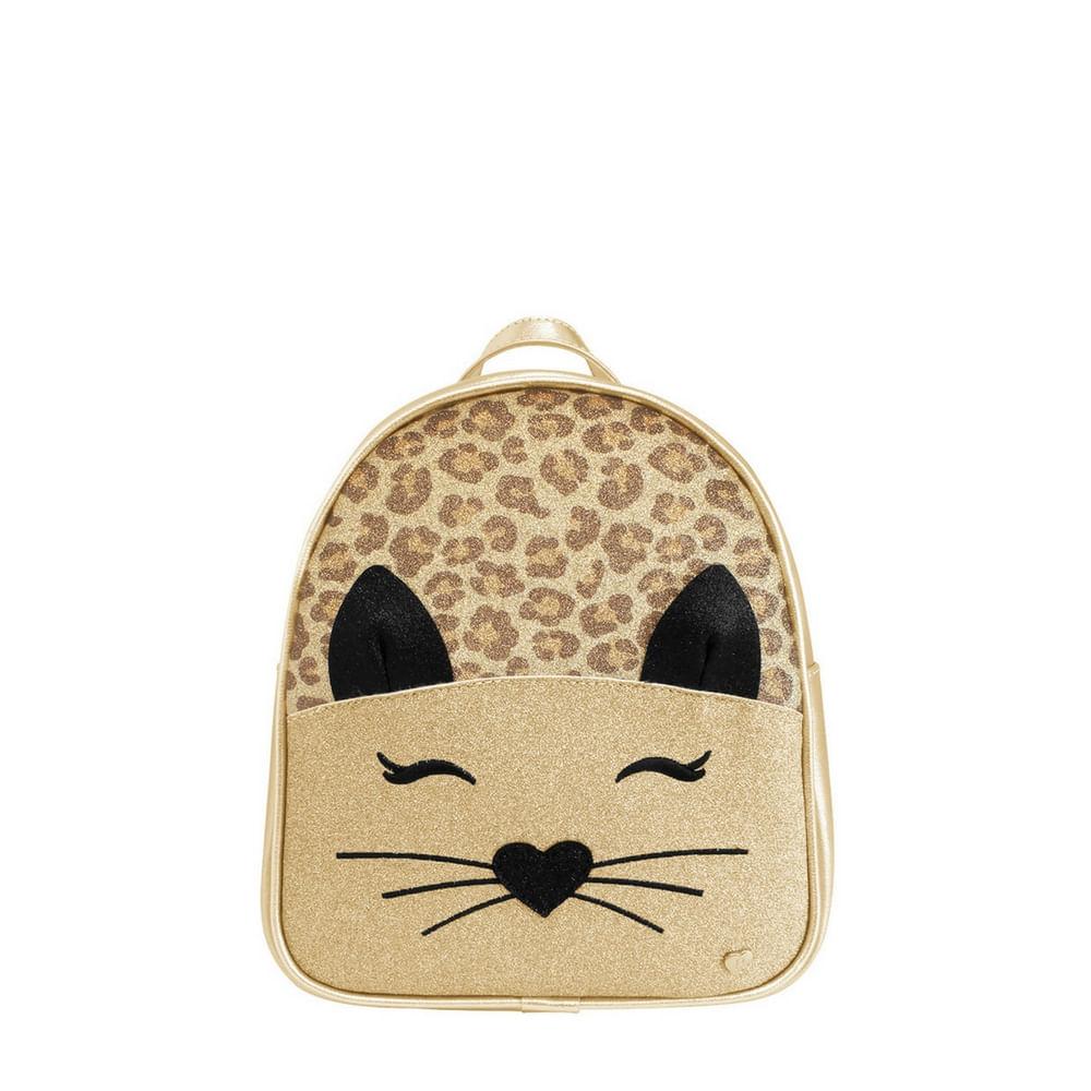 006250193-Mochila-Pampili-gato-Dourado-600671001-linha-zoo-Infantil
