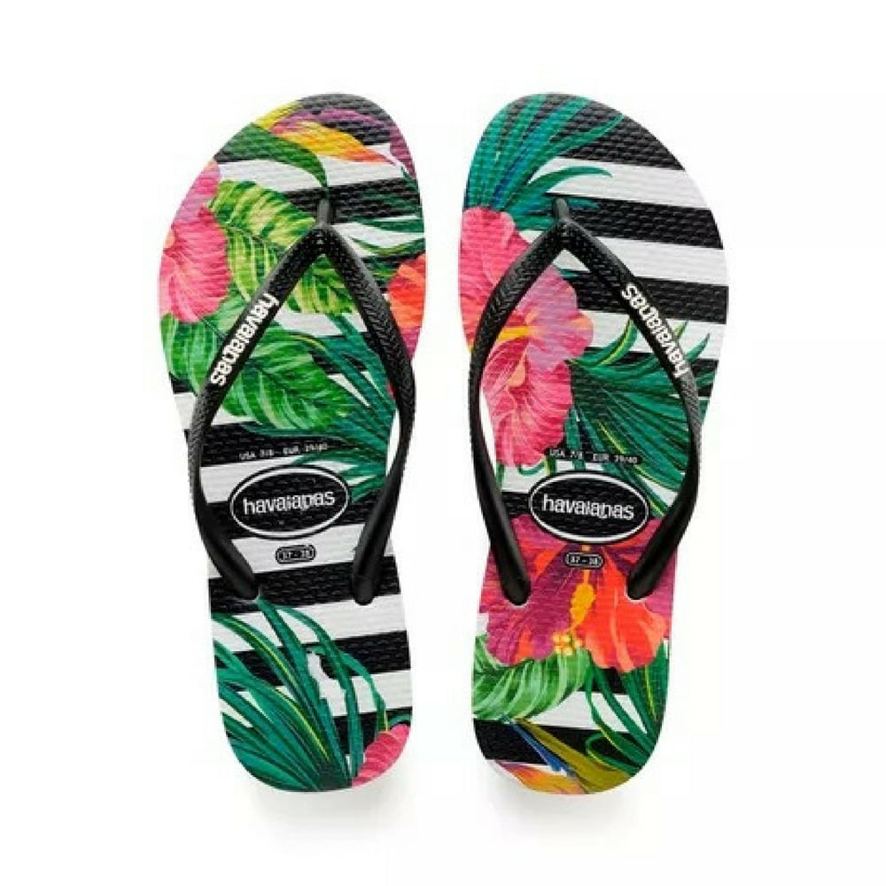 1319b0791 Chinelo Havaianas Slim Tropical - Feminino - Vanda Calçados