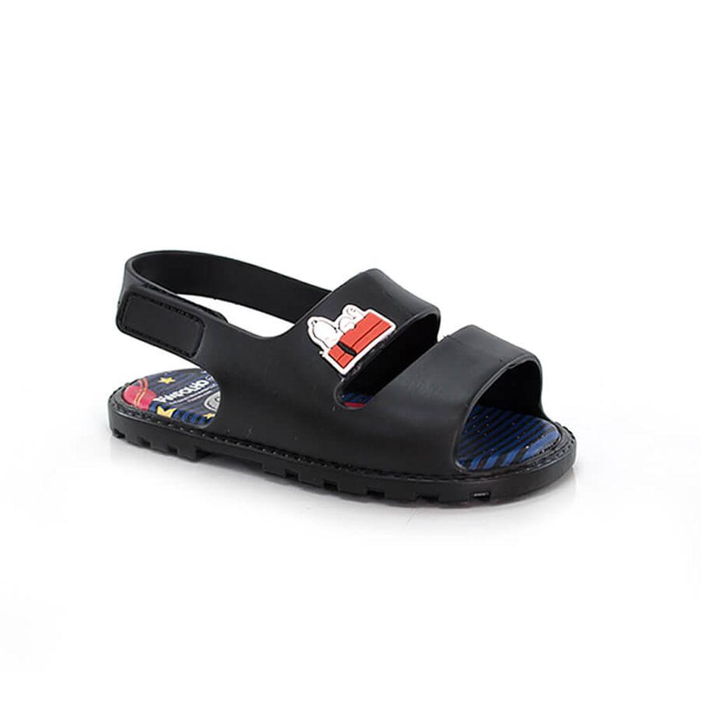 018110023-Sandalia-Pimpolho-Snoopy-Linha-Colore-preto-Baby-Infantil