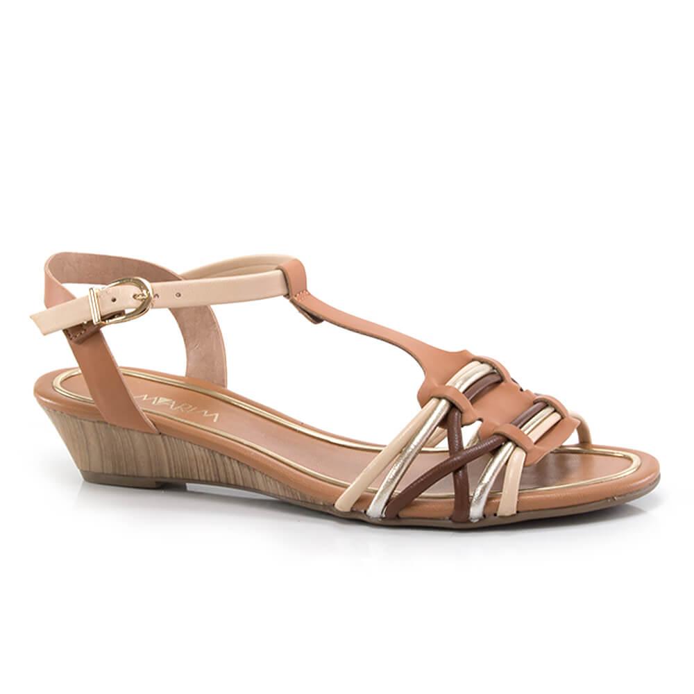 90b9500a24 Sandália Ramarim Salto Médio com Tiras - Vanda Calçados - Vanda Calçados