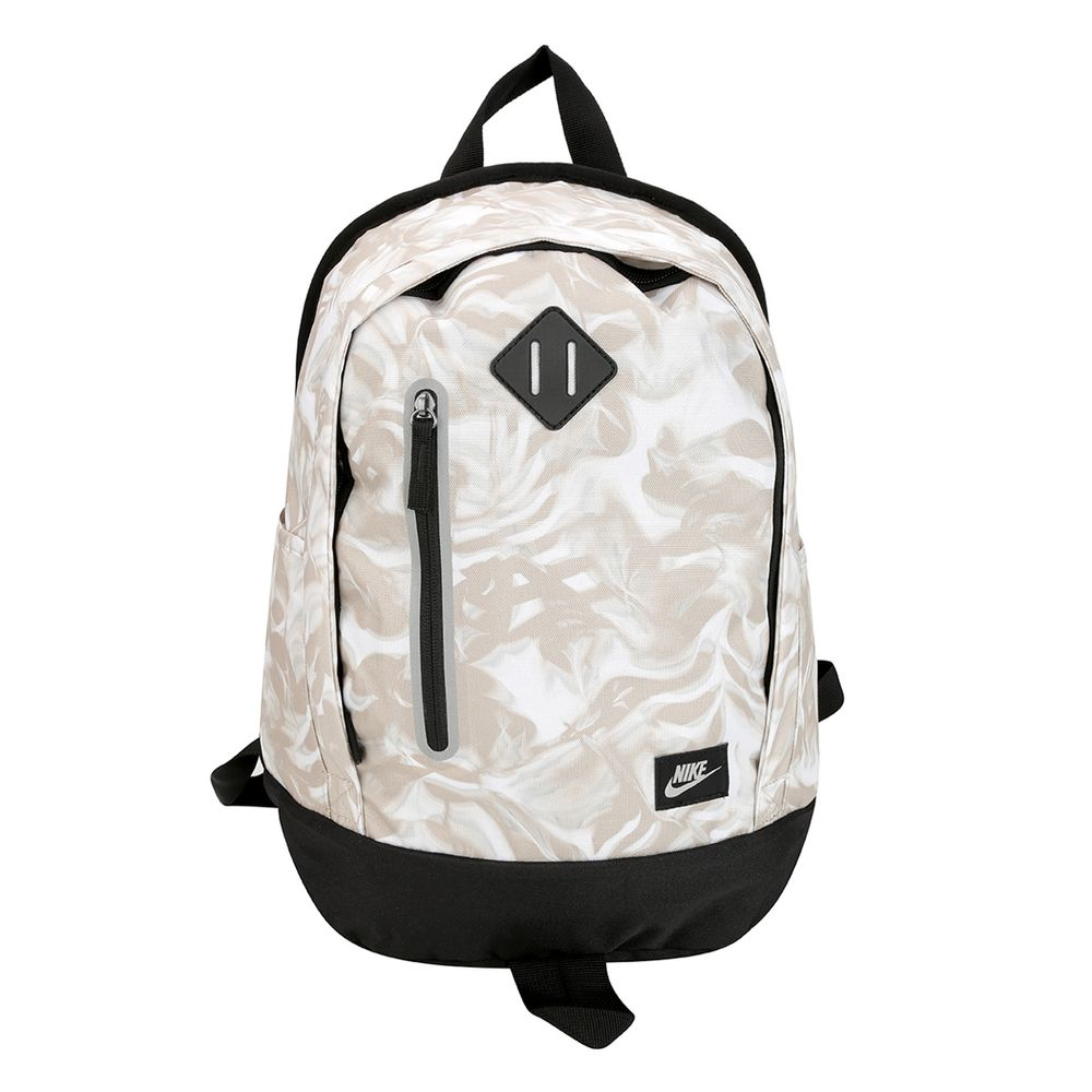 006250145-Mochila-Nike-Cheyenne-Print-Infantil-Bege-Oatmeal-Preto