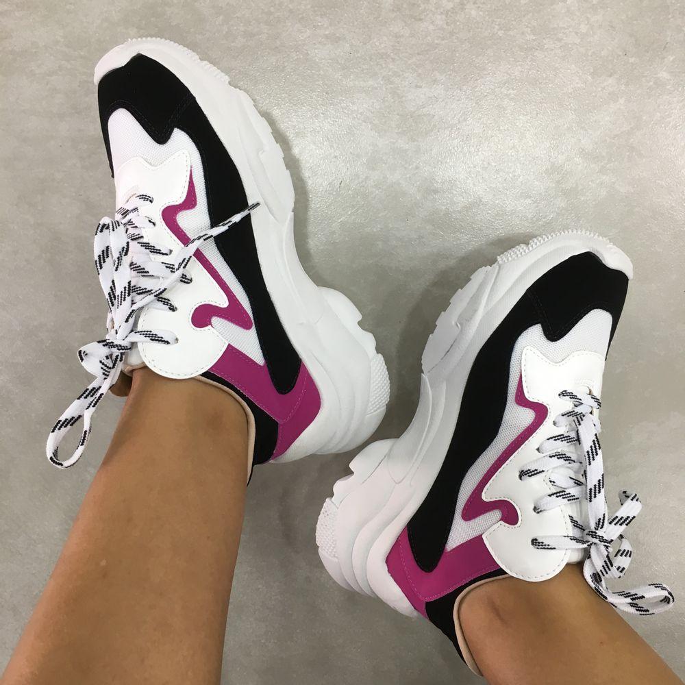 tenis-feminino-chunky-sneakers-flatform-preto-rosa-branco-zats-z2529-01