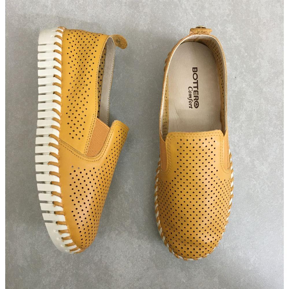 tenis-bottero-em-couro-vazado-feminino-amarelo-mostarda-3156-furadinho--2-