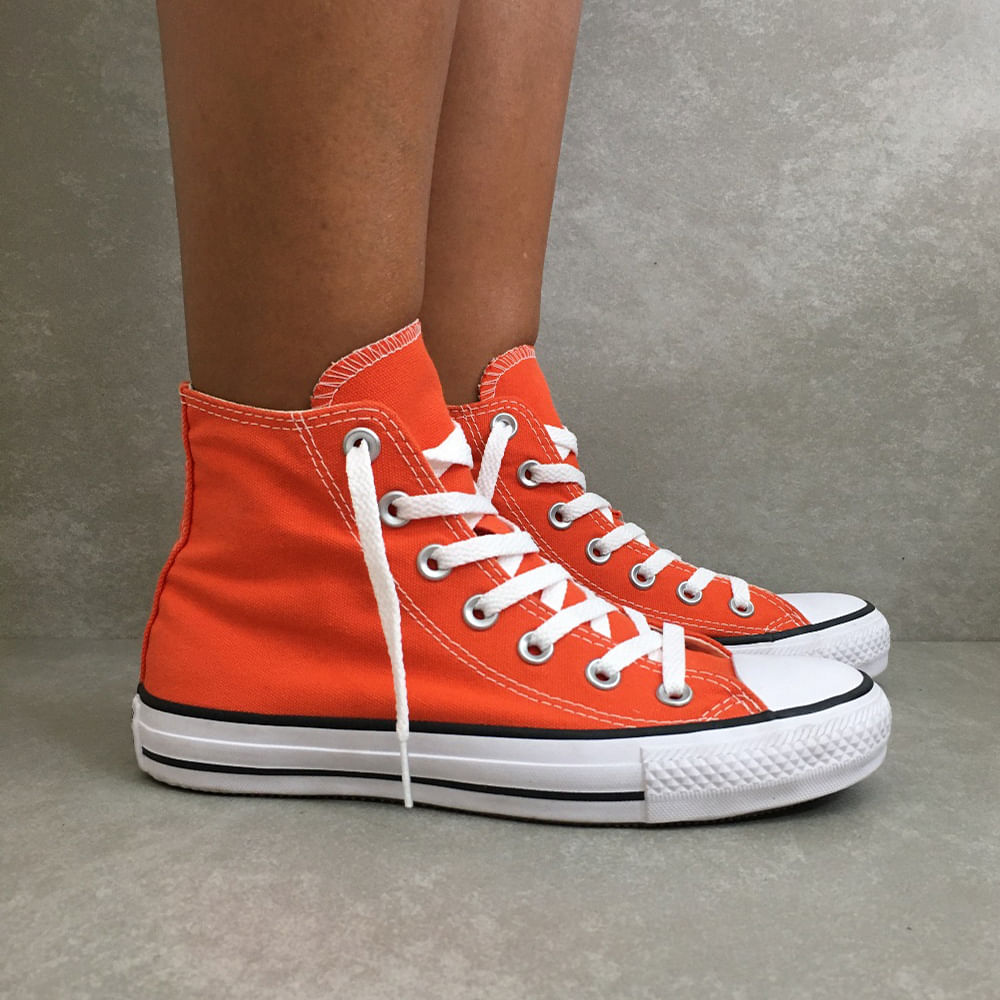 CT0419-Tenis-Converse-All-Star-tradicional-feminino-masculino-unissex-laranja-fogo-cano-medio-alto--3-