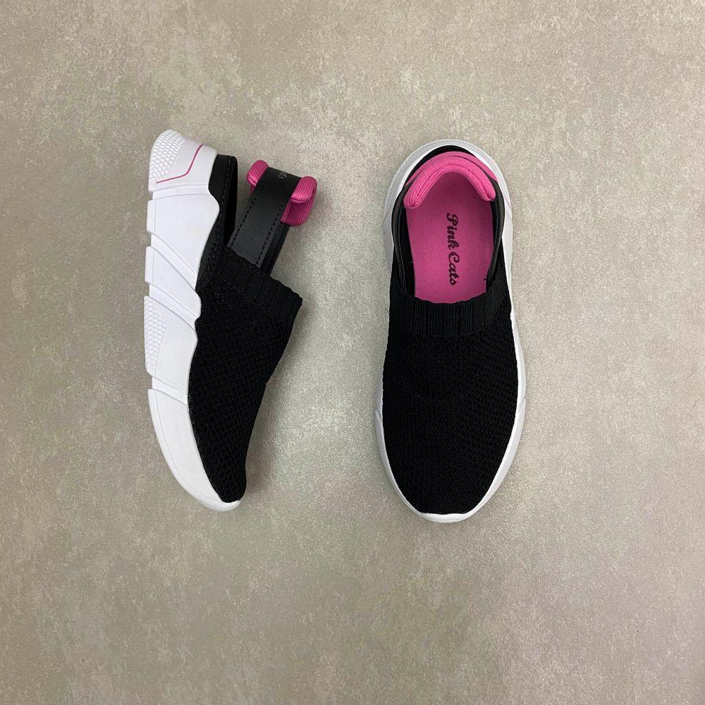 v2091-tenis-infantil-babuche-pink-cats-preto-vandinha2
